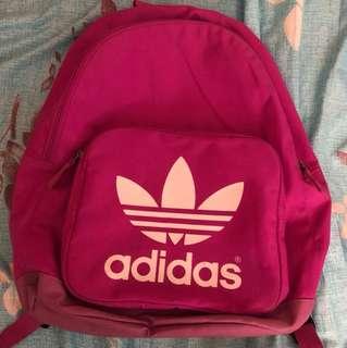 愛迪達 粉色後背包