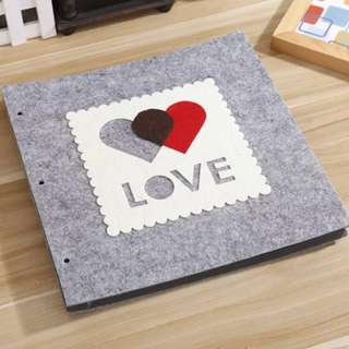 "16"" DIY Scrapbook Korean Hand Made Double Heart"