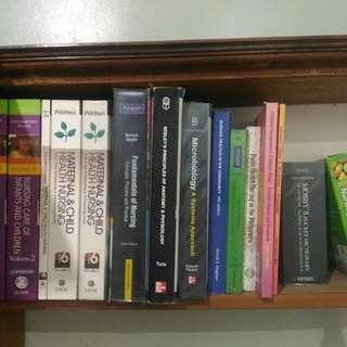 Slightly used nursing books set
