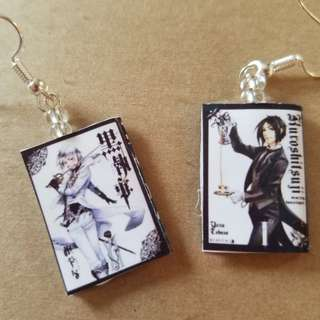 Black Butler And Fairy Tail Earrings