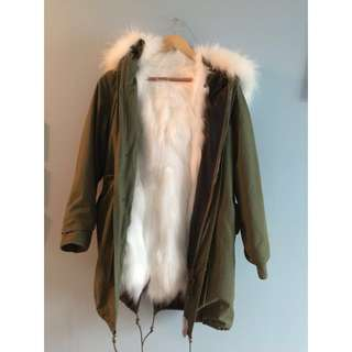 Authentic detachable fox fur jacket