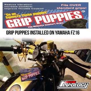 Grip Puppies Installed On Yamaha FZ16