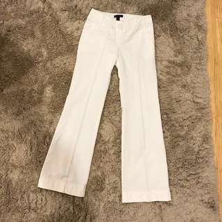 MNG white wide leg pants