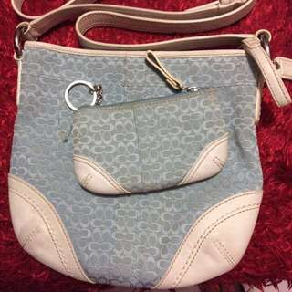 (Set) Authentic coach sling bag and coin purse