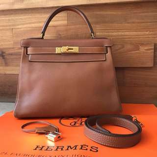 Hermes vintage kelly size 28 GHW 💯 authentic