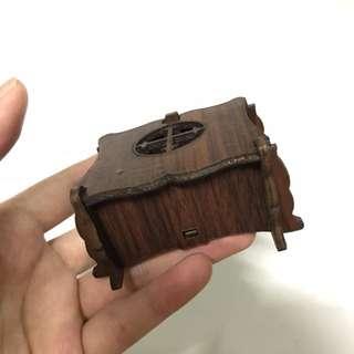 中國風小木盒 深色木盒 可拆解 簍空雕花