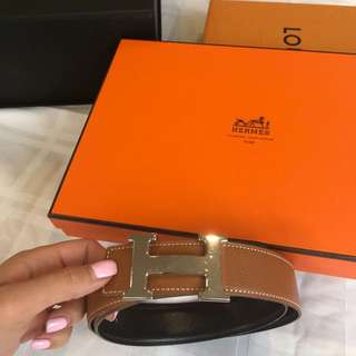 Authentic Hermès Constance H reversible belt