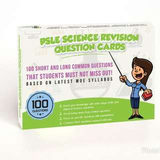 PSLE science revision question card