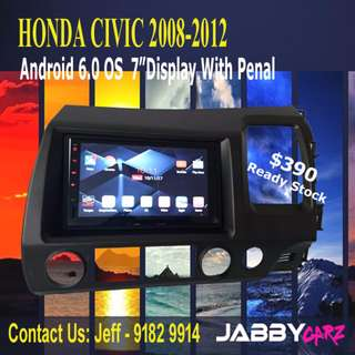 "HONDA CIVIC Android 6.0 OS 7""Display With Penal"