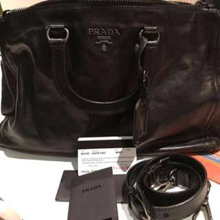Authentic Prada Glace Calf Tote BL0740
