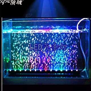 Air Bubble Curtain Multi Colour Led Light For Aquarium Fish Tank