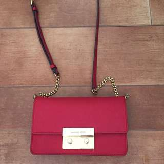 Michael Kors Small Red Sling/ Clutch