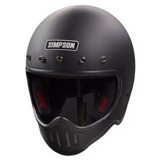 Simpson Helmet Simpson Model 50 M50 Helmet (Size Medium M. Black) D.O.T Approved Top Gear The Stig