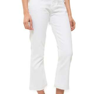 *Aritzia* size 25 Citizen of Humanity Drew White cropped flare jeans