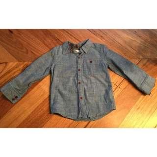 Boys pumpkin patch denim shirt, size 3