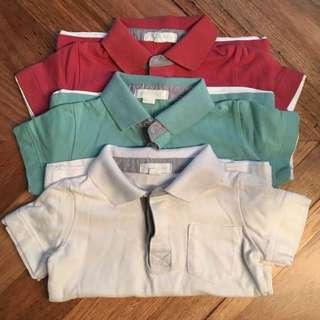 Boys pumpkin patch polo shirts 3x, size 3