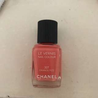 Chanel nail polish in orange fizz