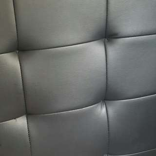 King single leather beds