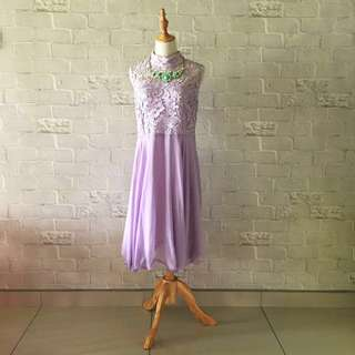2014 Doublewoot Vintage Lilac Lace Cocktail Dress