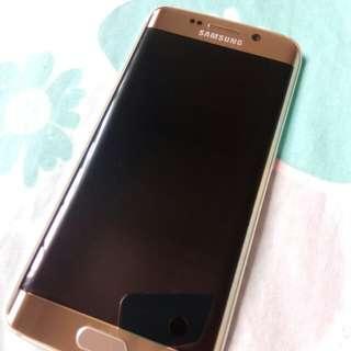 Samsung S6 Edge 64GB Gold Screen no scratches