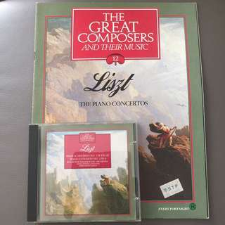 Liszt Piano Concerto No 1 in E flat & No 2 in And magazine 'The Great Composers and their music' no 12