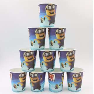 Ready Stock Minion Party Theme Paper Cups & Plate