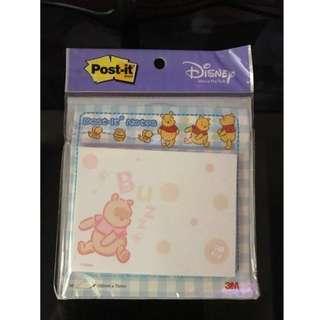 3M 小熊維尼便條紙  Winnie The Pooh Post-It Memo Pads (50 sheets)