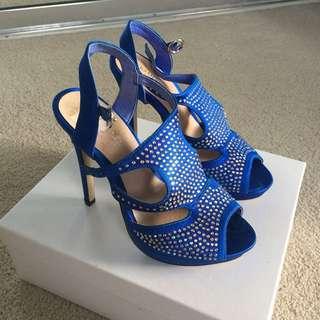 JO MERCER Blue Heels