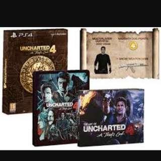 Steelbook Uncharted 4 NEW