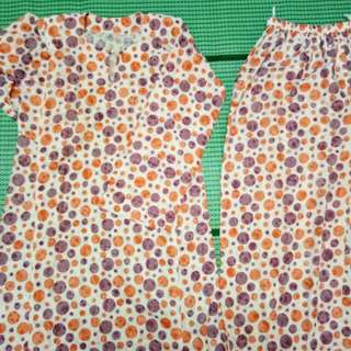 Kurung Pahang Cotton Polka Dott