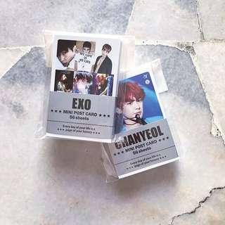 EXO Mini Post Card Set 50 pcs Ready Stock