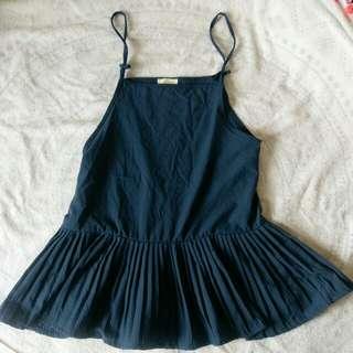 古著藍色吊帶裙#換季五折