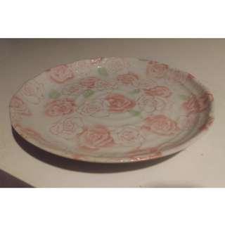 盤子 - 圓形陶瓷花樣水果盤/點心盤/茶盤