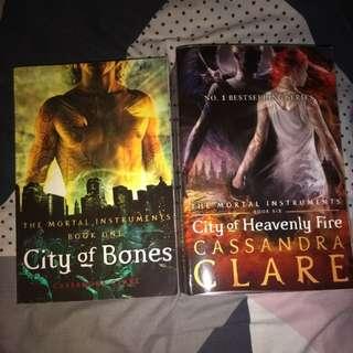 City of bones & city if heavenly fire