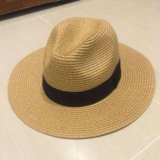 紳士草帽(可伸縮帽圍)