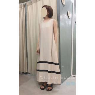 轉賣。小房間 棉質條紋長洋裝
