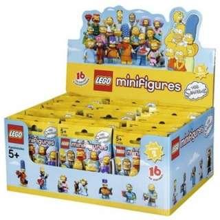 樂高 LEGO 71009 Minifigure The Simpsons Series 2 原箱一盒60隻 全新 現貨
