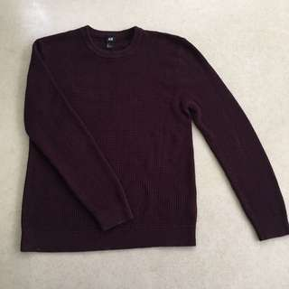 H&M Knitted Sweater (Maroon)