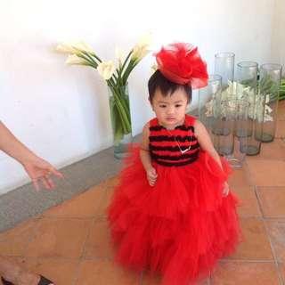Bongang Red Gown By Fatima Beltran