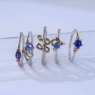 Silver Rings   Set of 5