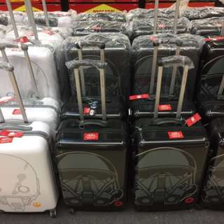 Warehouse Sales STAR WARS 20 and 24 Inch Travel Luggage Rogue Death Trooper Black/ K250 White