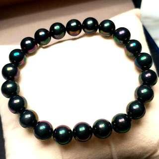 日本天然黑珍珠手鏈 Japanese Natural Black Color Pearl Bracelet