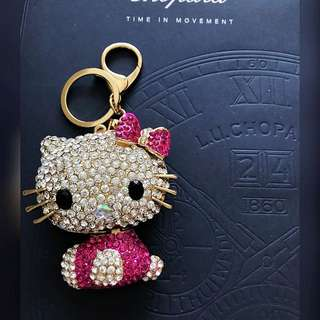 Bagcharm hello kitty pink large size