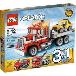 LEGO creator 3 in 1 Highway Pickup