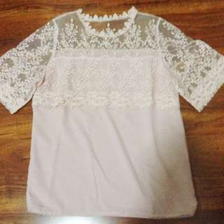 sheer top soft pink