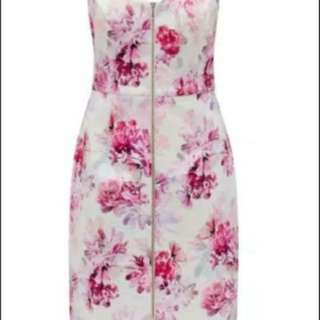 Forever new Zoe zip dress floral sz 8