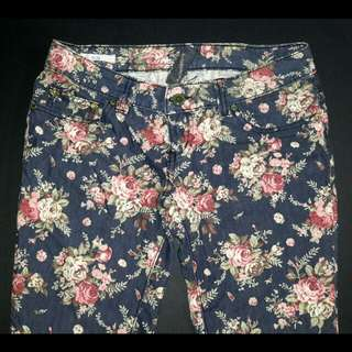 Floral Pants (Folded and Hung)