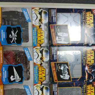 Star Wars 3D Metal Earth Models