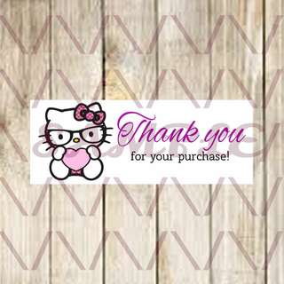 120 Hello Kitty Thank You Labels