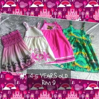 4-5 Years Old Girl Dress